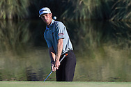 Will Zalatoris (USA) chips on to 18 during Rd4 of the 2020 Shriner's Hospital for Children Open, TPC Summerlin, Las Vegas, NV. 10/11/2020.<br /> Picture: Golffile | Ken Murray<br /> <br /> <br /> All photo usage must carry mandatory copyright credit (© Golffile | Ken Murray)