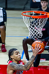 NORMAL, IL - February 27: Howard Fleming Jr collects a defensive rebound during a college basketball game between the ISU Redbirds and the Northern Iowa Panthers on February 27 2021 at Redbird Arena in Normal, IL. (Photo by Alan Look)