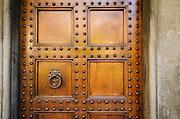 Door detail, Basilica di San Lorenzo, Florence, Tuscany, Italy
