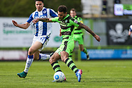 Forest Green Rovers Kaiyne Woolery(14) shoots at goal during the Vanarama National League match between Forest Green Rovers and Chester FC at the New Lawn, Forest Green, United Kingdom on 14 April 2017. Photo by Shane Healey.