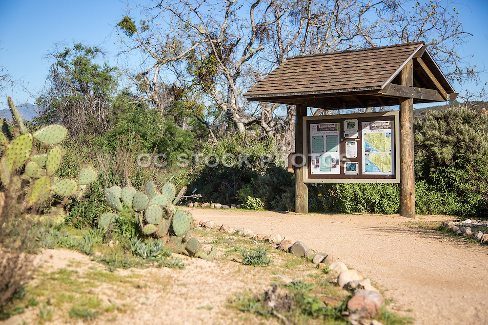 Laguna Coast Wilderness Park Information Board on Trail
