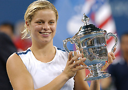 Belgium's Kim Clijsters defeated 6-3, 6-1 France's Mary Pierce in the Women's Final at the 2005 US Open, held at the Arthur Ashe stadium in Flushing Meadows, New York, USA, on September 10, 2005. Photo by Nicolas Khayat/Cameleon/ABACAPRESS.COM