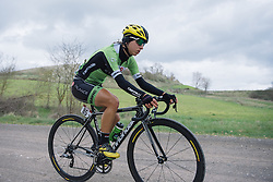 Rosella Ratto across the second gravel sector - 2016 Strade Bianche - Elite Women, a 121km road race from Siena to Piazza del Campo on March 5, 2016 in Tuscany, Italy.