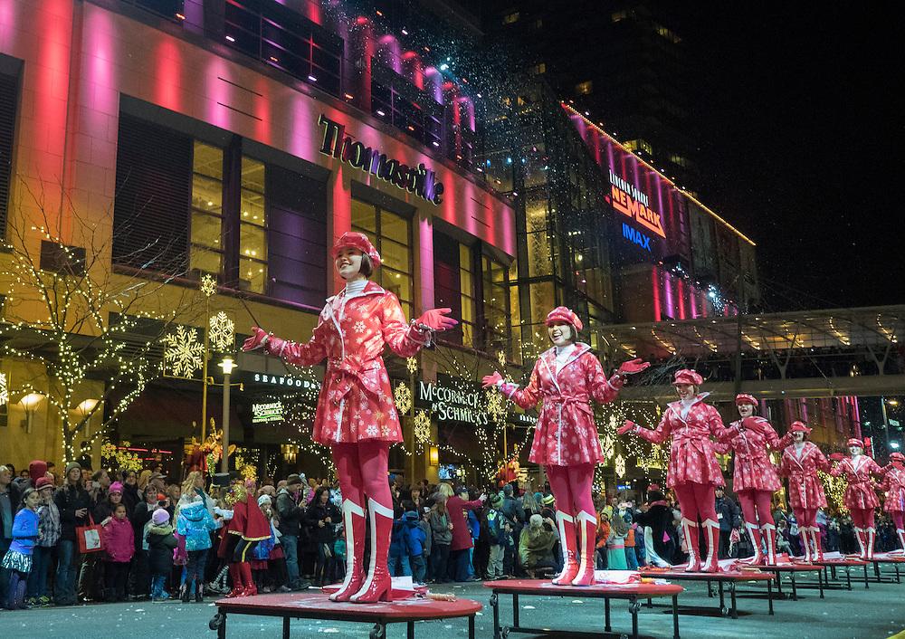 United States, Washington, Bellevue, Snowflake Lane annual holiday celebration
