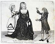Sarah Siddons (born Kemble - 1755-1831) English actress. Mrs Siddons as Lady Randolph in John Home's tragedy Douglas at the Theatre Royal, Edinburgh, Scotland, June 1784. Sutherland plays Old Norval. Etching by John Kay, Edinburgh, 1877.