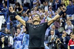 September 8, 2017 - New York, New York, USA - SEP 08, 2017: Rafael Nadal (ESP) during the 2017 U.S. Open Tennis Championships at the USTA Billie Jean King National Tennis Center in Flushing, Queens, New York, USA. (Credit Image: © David Lobel/EQ Images via ZUMA Press)