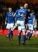 Football - 2017 / 2018 FA Cup - Fifth Round: Rochdale AFC vs. Tottenham Hotspur<br /> <br /> Ryan Delaney of Rochdale AFC and Oliver Rathbone of Rochdale AFC celebrate at Spotland Stadium.<br /> <br /> COLORSPORT/LYNNE CAMERON