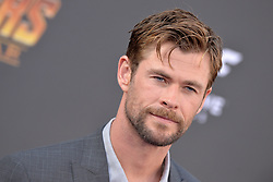 Chris Hemsworth attends the World Premiere of Avengers: Infinity War on April 23, 2018 in Los Angeles, Ca, USA. Photo by Lionel Hahn/ABACAPRESS.COM