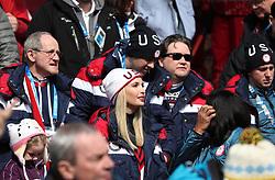 PYEONGCHANG, Feb. 25, 2018  Ivanka Trump (C), U.S. President Donald Trump's daughter, watches the 4-man event of bobsleigh at the 2018 PyeongChang Winter Olympic Games at Olympic Sliding Centre, PyeongChang, South Korea, Feb. 25, 2018. (Credit Image: © Bai Xuefei/Xinhua via ZUMA Wire)
