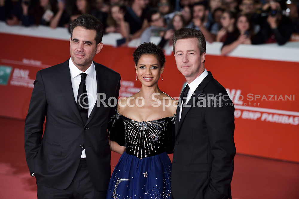 """Motherless Brooklyn"""" Red Carpet - 14th Rome Film Fest 2019<br /> ROME, ITALY - OCTOBER 17: Bobby Cannavale, Gugu Mbatha-Raw, Edward Norton  attends the """"Motherless Brooklyn"""" red carpet during the 14th Rome Film Festival on October 17, 2019 in Rome, Italy."""