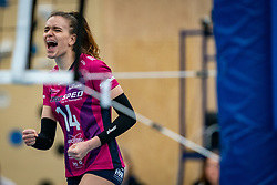 Dagmar Boom of Eurosped celebrate during the league match Talentteam Papendal vs.  Eurosped on January 23, 2021 in Ede.