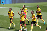 Eden Hazard of Belgium celebrates after scoring with teammates during the 2018 FIFA World Cup Russia, Group G football match between Belgium and Tunisia on June 23, 2018 at Spartak Stadium in Moscow, Russia - Photo Tarso Sarraf / FramePhoto / ProSportsImages / DPPI