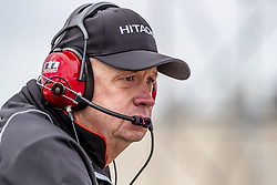 March 23, 2019 - Austin, Texas, U.S. - Spotter, Bob Jeffries, watches his driver, JOSEF NEWGARDEN (2) of the United States as he goes through the turns during practice for the INDYCAR Classic at Circuit Of The Americas in Austin, Texas. (Credit Image: © Walter G Arce Sr Asp Inc/ASP)