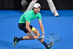 January 10, 2019 - Sydney, NSW, U.S. - SYDNEY, AUSTRALIA - JANUARY 10: Alex De Minaur (AUS) hits a forehand at The Sydney International Tennis in the match between Alex De Minaur (AUS) and Jordan Thompson (AUS) on January 10, 2018, at Sydney Olympic Park Tennis Centre in Homebush, Australia. (Photo by Speed Media/Icon Sportswire) (Credit Image: © Steven Markham/Icon SMI via ZUMA Press)