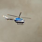 Grote brand Quest International Naarden, politieheli KLPD met warmtecamera