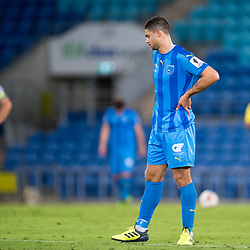 BRISBANE, AUSTRALIA - SEPTEMBER 20: Jarrod Kyle of Gold Coast City reacts during the Westfield FFA Cup Quarter Final match between Gold Coast City and South Melbourne on September 20, 2017 in Brisbane, Australia. (Photo by Gold Coast City FC / Patrick Kearney)