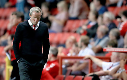 Charlton Athletic caretaker manager Lee Bowyer appears dejected after the final whistle