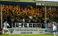 Photo: Chris Ratcliffe.<br />Colchester United v Bristol City. Coca Cola League 1. 17/01/2006.<br />The Layer Road faithful watch on.