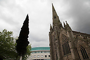 St Martins Church in Birmingham, United Kingdom. The church of St Martin in the Bull Ring is a parish church of the Church of England. It is the original parish church of Birmingham and stands between the Bull Ring shopping centre and the markets.