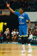 Ricky Ledo (7) of the Texas Legends calls for the ball against the Los Angeles D-Fenders on Friday, January 9, 2015 at the Dr. Pepper Arena in Frisco, Texas. (Cooper Neill/Special Contributor)