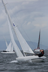 International Dragon Class Scottish Championships 2015.<br /> <br /> Day 1 racing in perfect conditions.<br /> <br /> GBR760, HANDSOFF, Mike Holmes, RCYC ( Burnham )\<br /> <br /> <br /> Credit Marc Turner