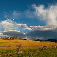 Dramatic clouds soar over Montana's Gallatin Valley.