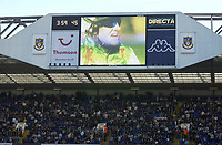 Copyright Sportsbeat. 0208 3926656<br />Picture: Henry Browne<br />Date: 05/04/2003<br />Tottenham Hotspur v Birmingham City FA Barclaycard Premiership<br />Grand National is shown at half time