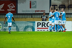 Player of Malmo FF celebrating during Football match between NK Domzale and Malmo FF in Second Qualifying match of UEFA Europa League 2019/2020, on July 25th, 2019 in Sports park Domzale, Domzale, Slovenia. Photo by Grega Valancic / Sportida