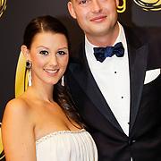 NLD/Amsterdam/20121019- Televiziergala 2012, Lange Frans Frederiks en partner Danielle van Aalderen