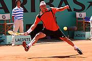 Roland Garros. Paris, France. June 9th 2006..David Nalbandian against Roger Federer during the semi finals.