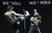 Kampfsport: MMA, We love MMA, Oberhausen, 31.01.2015<br /> Mohamad Grabinski (Pride Gym Duesseldorf, l.) - Gary Kono (Ronin MMA Leverkusen)<br /> © Torsten Helmke