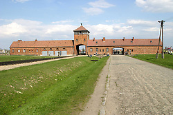 Apr 19, 2004; Auschwitz, POLAND; Auschwitz Birkenau Gate II concentration camp which is now a museum/memorial. The March of the Living is an international, educational program that brings Jewish teens from all over the world to Poland on Yom Hashoah, Holocaust Memorial Day, to march from Auschwitz to Birkenau, the largest concentration camp complex built during World War II. The goal of the March of the Living is for these young people to learn the lessons of the Holocaust and to lead the Jewish people into the future vowing 'Never Again.'  (Credit Image: © Jerzy Dabrowski/ZUMAPRESS.com)