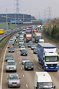 Traffic on M1 motorway in Hertfordshire, United Kingdom