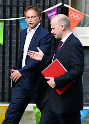 © Licensed to London News Pictures. 06/09/2012. Westminster, UK  Grant Shapps MP (L) the Tory Party Co chairman on Downing Street today 06th September 2012 Photo credit : Stephen Simpson/LNP