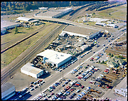 """ackroyd-C05166-1.""""Aerials. October 28, 1980"""" Acme Trading. (Across Front Ave from Gunderson, south of the Kittridge bridge)"""