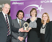 Dr Tony Lenehan of Fáilte Ireland and Matt Fisher COO, EFQM present Jane Short Crown HR manager Plaza Northwood  and Nicola Lawless with their award at the EFQM Ireland Excellence Awards ceremony in association with Fáilte Ireland and the Centre for Competitiveness at the Galway Bay Hotel on Friday night. Photo:- Andrew Downes Photography / No Fee  Dr Tony Lenehan of Fáilte Ireland and Matt Fisher COO, EFQM present Jane Short Crown Plaza Northwood  and Nicola Lawless  with their award at the EFQM Ireland Excellence Awards ceremony in association with Fáilte Ireland and the Centre for Competitiveness at the Galway Bay Hotel on Friday night. Photo:- Andrew Downes Photography / No Fee