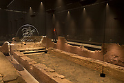 The reconstructed mid-3rd century Roman Mithraeum also known as the Temple of Mithras, Walbrook, now beneath Bloomberg's new European headquarters and open to the public, on 26th November 2017, in the City of London, England.