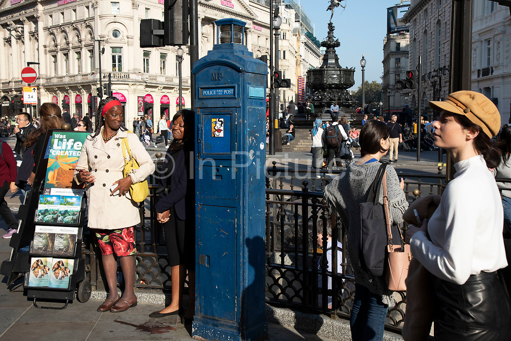 The Watchtower magazine being handed out in Piccadilly Circus in London, United Kingdom. The Watchtower Announcing Jehovahs Kingdom is an illustrated religious magazine, published monthly in 254 languages by Jehovahs Witnesses. Along with its companion magazine, Awake!, Jehovahs Witnesses distribute The Watchtower Public Edition in their door-to-door ministry, and is the most widely circulated magazine in the world, with an average print run of approximately 59 million copies bimonthly, as of 2016.
