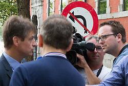 July 19, 2017 - Namur, BELGIUM - MR chairman Olivier Chastel pictured ahead of a meeting between the chairmen of French-speaking Christian democrat humanist cdH and French-speaking liberals MR and the social partners in Namur, Wednesday 19 July 2017. cdH invited other parties to find new majorities without socialists in regional governments. BELGA PHOTO BENOIT DOPPAGNE (Credit Image: © Benoit Doppagne/Belga via ZUMA Press)