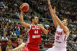 September 17, 2018 - Gdansk, Poland - Bogdan Bogdanovic (44) of Croatia in action against Mikolaj Witlinski (32) of Poland  is seen in Gdansk, Poland on 17 September 2018  Poland faces Croatia during the Basketball World Cup China 2019 Qualifiers game in the ERGO Arena sports hall in Gdansk  (Credit Image: © Michal Fludra/NurPhoto/ZUMA Press)