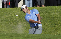 January 26, 2019 - San Diego, CA, USA - Jon Rahm hits out of the sand on the 18th hole during the third round of the Farmers Insurance Open at the Torrey Pines Golf Course in San Diego on Saturday, Jan. 26, 2019. (Credit Image: © K.C. Alfred/San Diego Union-Tribune/TNS via ZUMA Wire)