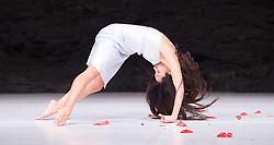 Tanztheater Wuppertal Pina Bausch <br /> 'Masurca Fogo' <br /> at Sadler's Wells, London, Great Britain <br /> rehearsals<br /> 8th February 2017 <br /> <br /> Tanztheater Wuppertal Pina Bausch: Masurca Fogo<br /> Silvia Farias-Heredia<br /> Masurca Fogo, created by the endlessly inventive Pina Bausch, returns to Sadler's Wells from 9 - 12 February 2017. The piece is performed by the legendary Tanztheater Wuppertal Pina Bausch, a Sadler's Wells International Associate Company.<br /> <br /> <br /> <br /> <br /> Performers:<br /> Regina Advento, Pablo Aran Gimeno, Emma Barrowman, Rainer Behr, Andrey Berezin, Michael Carter, Çağdaş Ermis, Silvia Farias Heredia, Jonathan Fredrickson, Ditta Miranda Jasjfi, Daphnis Kokkinos, Cristiana Morganti, Breanna O'Mara, Nazareth Panadero, Julie Shanahan, Oleg Stepanov, Julian Stierle, Fernando Suels Mendoza, Aida Vainieri, Ophelia Young.<br /> <br /> Photograph by Elliott Franks <br /> Image licensed to Elliott Franks Photography Services