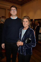 LONDON, ENGLAND 28 NOVEMBER 2016: Prince Fritzi von Preussen and Princess Victoria von Preussen at a reception to celebrate the publication of The Sovereign Artist by Christopher Le Brun and Wolf Burchard held at the Royal Academy of Art, Piccadilly, London, England. 28 November 2016.