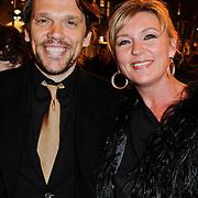 NLD/Amsterdam/20120313 - Inloop Boekenbal 2012, Saskia Noort en partner Frank van den Berg