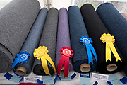 Harris Tweed competition at the North Harris Agricultural Show, Urgha, Isle of Harris, Outer Hebrides, Scotland on 19 July 2018