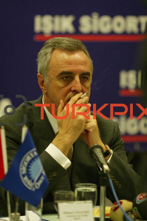 Turkish Soccer...<br /> Turkish Soccer Super League team president Ozhan Canaydin. Kalyon Otel Istanbul/Turkey<br /> Photo by Aykut AKICI/TurkSporFoto