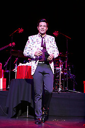 """ANAHEIM, CA - DEC 17: Singer Luis Coronel performs live on stage during his """"Noche Navideña"""" concert at the City National Grove of Anaheim on December 17, 2017 in Anaheim, California. Byline, credit, TV usage, web usage or linkback must read SILVEXPHOTO.COM. Failure to byline correctly will incur double the agreed fee. Tel: +1 714 504 6870."""