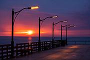 The St. Simons Public Pier at dawn along the Saint Simons Sound in St. Simons Island, Georgia.