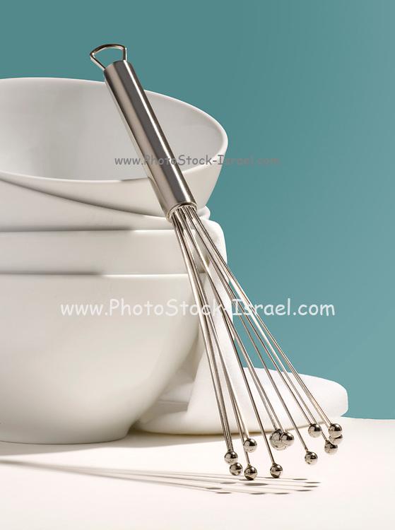 white baking utensils