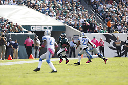 Philadelphia Eagles quarterback Michael Vick (7) carries the ball during the NFL game between the Detroit Lions and the Philadelphia Eagles on Sunday, October 14th 2012 in Philadelphia. The Lions won 26-23 in Overtime. (Photo by Brian Garfinkel)
